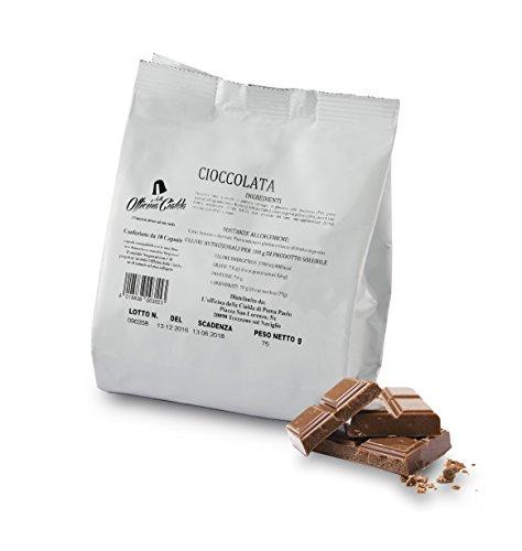 ODC MADE IN ITALY Kit Formato da 100 CAPSULE gusto CIOCCOLATO Compatibili con le Macchine da Caffè NESPRESSO.