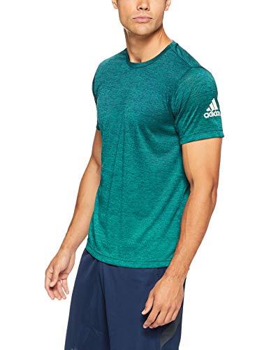 adidas Herren Freelift Gradient Kurzarm T-shirt, blau (Mystery Ink/Noble Green), XL (Langarm-polo Adidas)