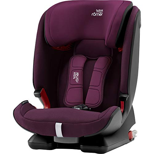 Britax Römer Kindersitz 9-36 kg, ADVANSAFIX IV M Autositz Isofix Gruppe 1/2/3, Burgundy Red -