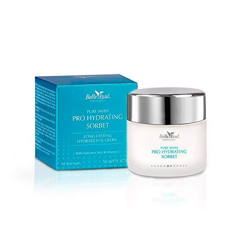 Belle Azul - PURE SWISS - Un Gel leggero per il viso diurno che fornisce l'dratazione di una crema, Comfort a lunga durata e non grasso, 50 ml.