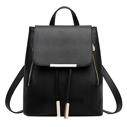 LAIDAYE PU-Schulterbeutel-Art Und Weisedamen Sacken Rucksackhandtaschen Ein 1