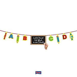 Folat Start Of School Bunting/Garland/Length 4 m