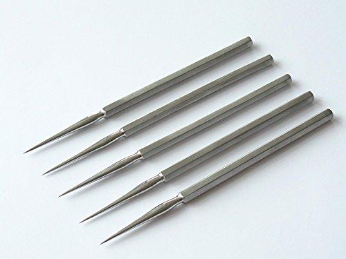 5x Präpariernadel, gerade, vollmetall, 1A Qulität, rostfreier Edelstahl, Präparier Nadel
