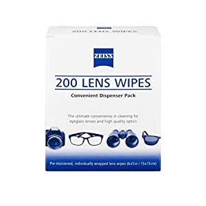 Zeiss Pre-Moistened Lens Cloths Wipes 200 Ct