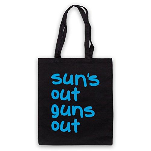 Sun's Out Guns Out Gym Slogan Umhangetaschen Schwarz