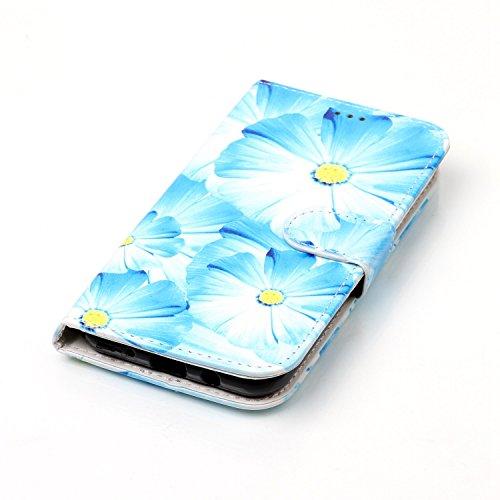 Für Samsung Galaxy J3 2017 Horizontale Flip Case Cover Luxus Blume / Marmor Textur Premium PU Leder Brieftasche Fall mit Magnetverschluss & Halter & Card Cash Slots ( Color : F ) H