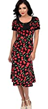 New 40s 50s Rockabilly Vintage Style Hourglass Trumpet Dress