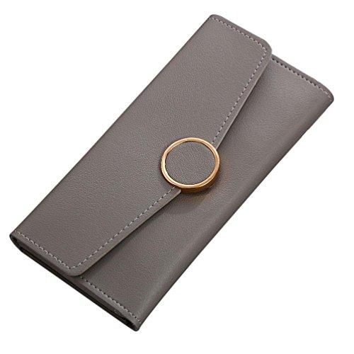 Portafoglio Donna, Tpulling Borsa delle donne semplice della borsa della moneta del raccoglitore della borsa delle donne (Blue) Gray