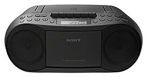 Sony CFD-S70,  Radioregistratore Boombox (per CD, Cassetta, Radio), colore nero