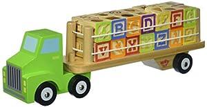 Tooky Toys TKF002 - Alfabeto de Madera y camión para números
