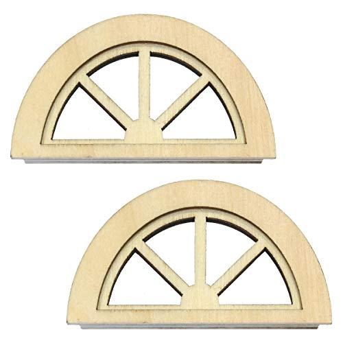 MyTinyWorld Paar Puppenhaus Miniatur Holz Halbmond Fenster - 12 Fenster