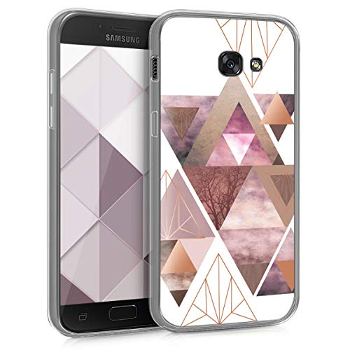 kwmobile Samsung Galaxy A5 (2017) Hülle - Handyhülle für Samsung Galaxy A5 (2017) - Handy Case in Rosa Rosegold Weiß