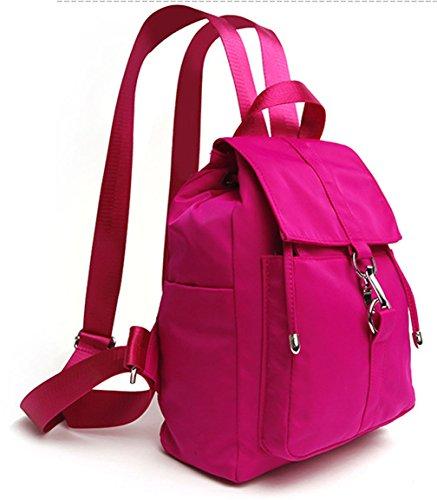 4e3a9f5a243b5 ... Keshi Nylon Niedlich Schulrucksäcke Rucksack Damen Mädchen Vintage  Schule Rucksäcke mit Moderner Streifen für ...