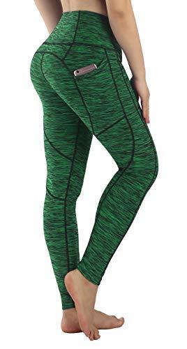 chte Leggings HosenYoga Leggings Sporthosen für Damen Elastische Leggings Sporthosen(Grün XL) ()