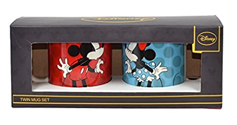 Disney Ceramic Twin Mug Set 'Mickey Mouse and Minnie Mouse'