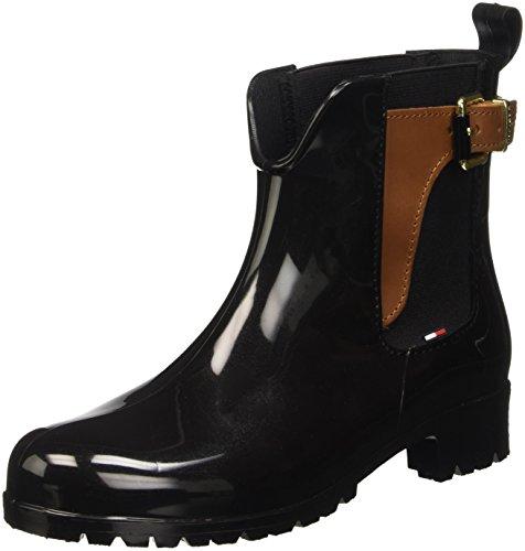 tommy-hilfiger-damen-o1285xley-2z2-kurzschaft-schlupfstiefel-mehrfarbig-black-winter-cognac-990-41-e