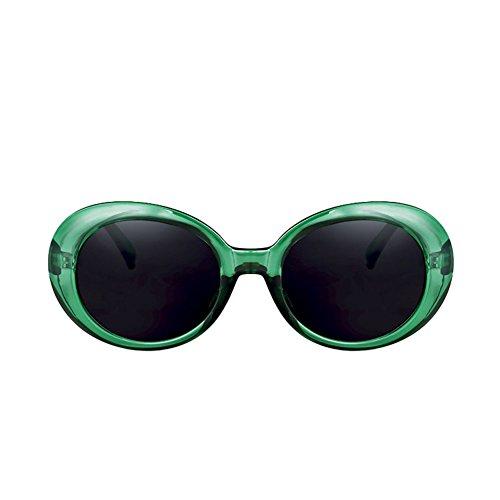 H.ZHOU Sonnenbrillen Ovale Hip-Hop-Frauen-Sonnenbrille-runde Gesichts-Harajuku-Sonnenbrille-Retro- UVgläser (Farbe : 3)