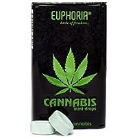 Euphoria Cannabis Mint Drops (25 g) | Zuckerfreie - Pfefferminzgeschmack - Hanfgeschmack