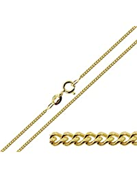 CJoL - 9ct Gold Plated on 925 Sterling Silver 1.5mm Wide Figaro Chain In Simple Gift Bag (available in 16
