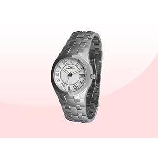 Sandoz 71568-00 – Reloj Col. Diver Acero Sumergible Brazalete metálico dial Blanco