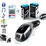 #7: SEC X5 Wireless Bluetooth Car Charger Kit with USB SD Card Reader Compatible with XIAOMI-REDMI NOTE 3, REDMI 3S PRIME, REDMI 3S, REDMI NOTE 4