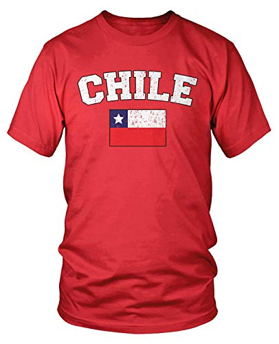 Men's Chilean Flag, Flag of Chile T-Shirt S (Zorn Kostüm Männer)