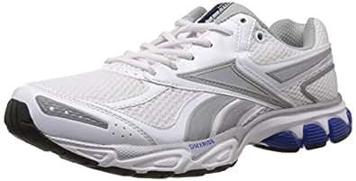 Reebok Men's Premier Aztrec 3 LP White and Silver Rubber Running Shoes - 10 UK