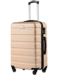 951a5f900f1 COOLIFE Suitcase Trolley Carry On Hand Cabin Luggage Hard Shell Travel Bag  Lightweight 2 Year Warranty