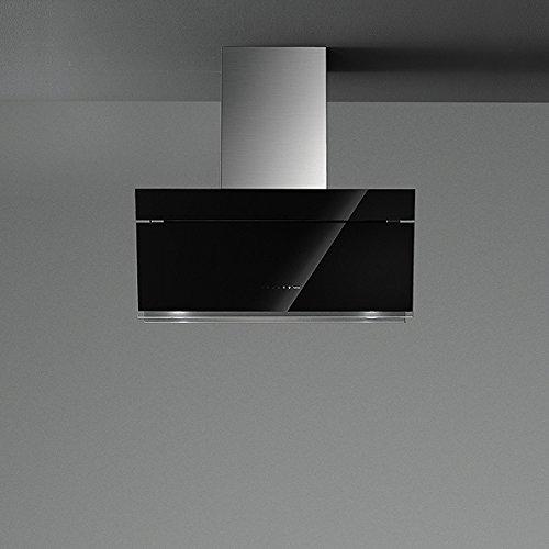 falmec Butterfly montiert Wand schwarz 800m³/h–Hauben (800m³/h, 60cm, 60cm, montiert Wand, Schwarz, 4Leuchtmittel (S))
