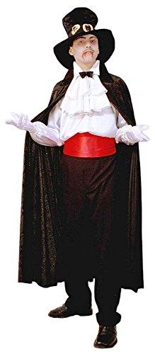 Samt Umhang für Erwachsene - Schwarz - Tolles Basis Cape für Kostüme wie Zauberer Teufel Barock Vampir Mittelalter Gothic