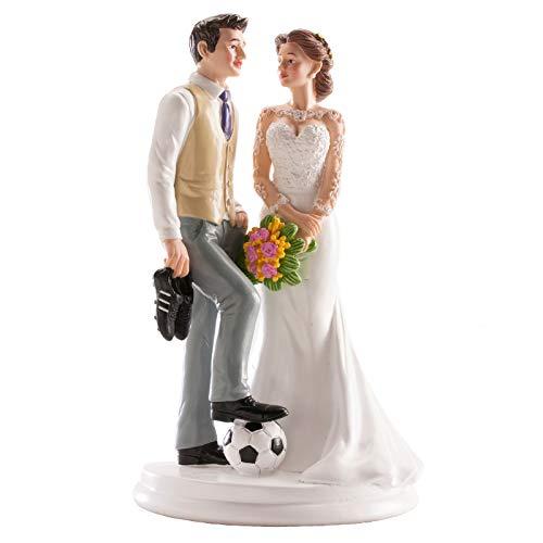 Encima torta esposos temática fútbol, divertido encima torta para los entusiastas del juego del fútbol
