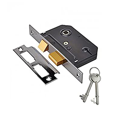 Yale Essentials 2.5 inch/64mm 3 Lever Sashlock, with Easy Fitting Template and Instructions, Suitable for Left or Right Hung Doors. - cheap UK light shop.