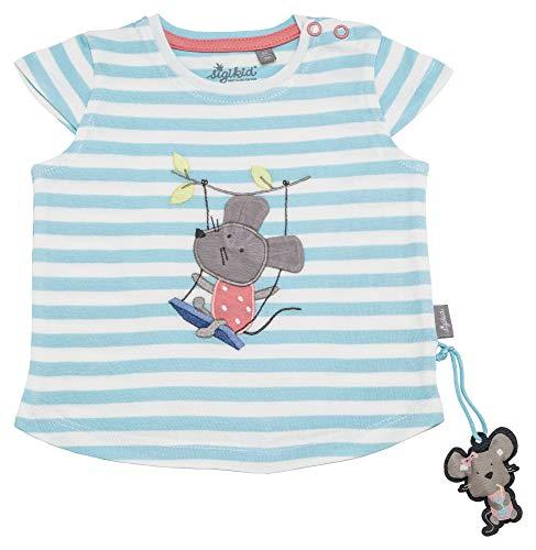 Sigikid Mädchen, Baby T-Shirt, Türkis (Aquatic 565), (Herstellergröße: 92) -