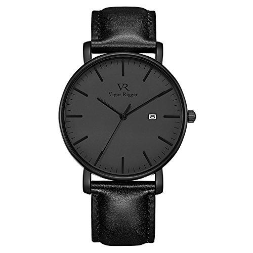 Minimalistische Herren-Armbanduhr Stylische Milanese Edelstahl Maschenband Uhr Ultra-schlank Kratzfeste Herrenuhren mit Datumsanzeige Wasserdichte Armbanduhr
