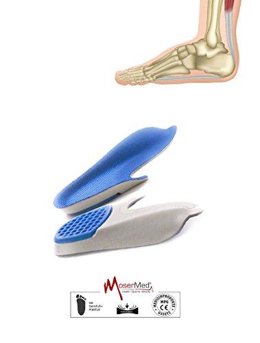 MoserMed medizinische Senkfuß-Einlage 3/4 Sohle (M = 38 - 42) (Medizinische Schuheinlagen)
