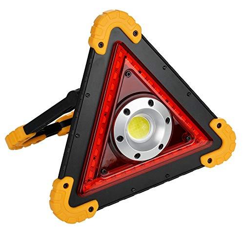 ALZHP Warndreieck LED Arbeits-Licht, LED-Zeichen-Licht, Flutlicht Red Flash, Für Autopannen Straßenrand Notfall