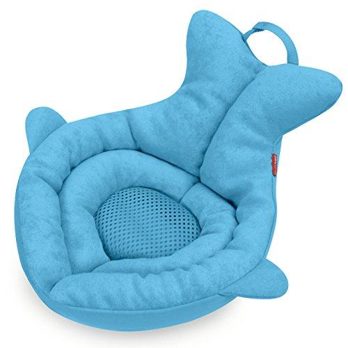 Skip Hop Moby Wal Waschbeckeneinsatz, zum Baden von Babys, blau