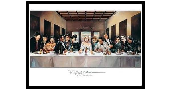 Renato Casaro 100 Years of Film Poster Bild Kunstdruck im Alu Rahmen in schwarz