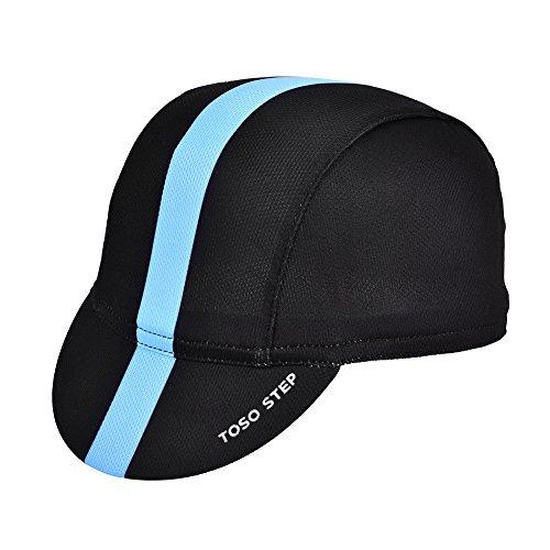 Alomejor - Gorro Deportivo para Ciclismo, 4 Colores, Gorra para Montar en Bicicleta, Sombrero Deportivo para Hombre, Azul y Negro