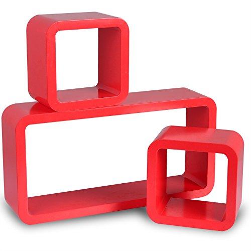 Woltu 9212-b Set 3 Mensole Muro Scaffale Parete Legno MDF Cubo Stile ...