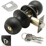Wolfpack 3030560 - Pomo con llave y condena para entrada, color negro