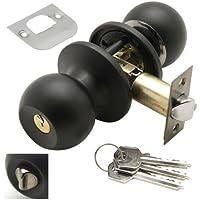 Wolfpack 3030560 - Pomo puertas con llave y condena para entrada, color negro