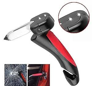 Twiclo Car Cane Auto Handgreep Cane Handle Flashlight seat Belt Cutter Glass Breaker Mobility Standing Aid