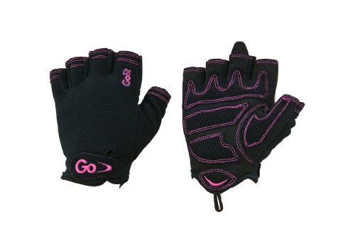 GOFIT Damen Cross-Trainings-Handschuhe mit geätztem Kunstleder an der Handfläche von