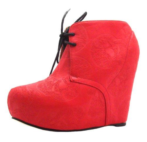Iron Fist Tigre & Bunny Wedge, Sandali donna Rosso rosso, Rosso (rosso), 41.5