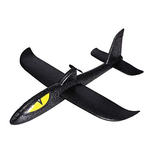 CUEYU Segelflugzeug Elektrische Werfen Schaum Flugzeug DIY Montiert Modell Outdoor Sports Fliegen Spielzeug für Partys,Kinder,Dekoration,Geschenke,Draußen und andere Ereignisse (Schwarz)