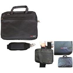 Navitech schwarzes Ultrabook / Spiel Konsole / Tablet Case Cover Tasche für das (HP Pavilion 17z-e100 Notebook PC)