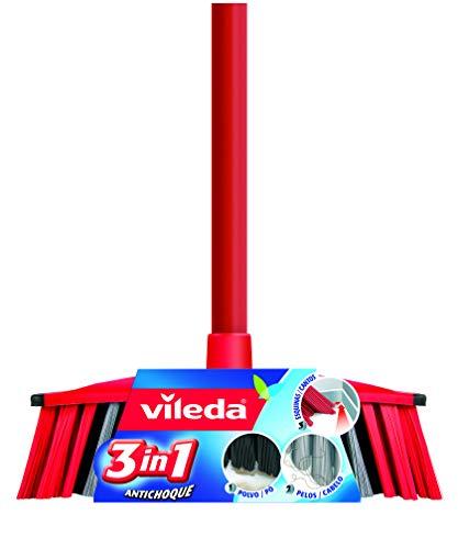 Vileda 3-in-1-Set aus Besen und Stiel, stoßgedämpft