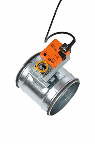 Intelmann Absperrklappe 125 mm + Belimo LM230A Stellantrieb (80 100 125 150 160 180 200) -