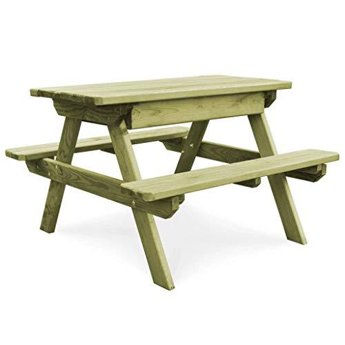 vidaXL Kiefer Picknicktisch mit Bänken Gartenbank Sitzgruppe Gartengarnitur